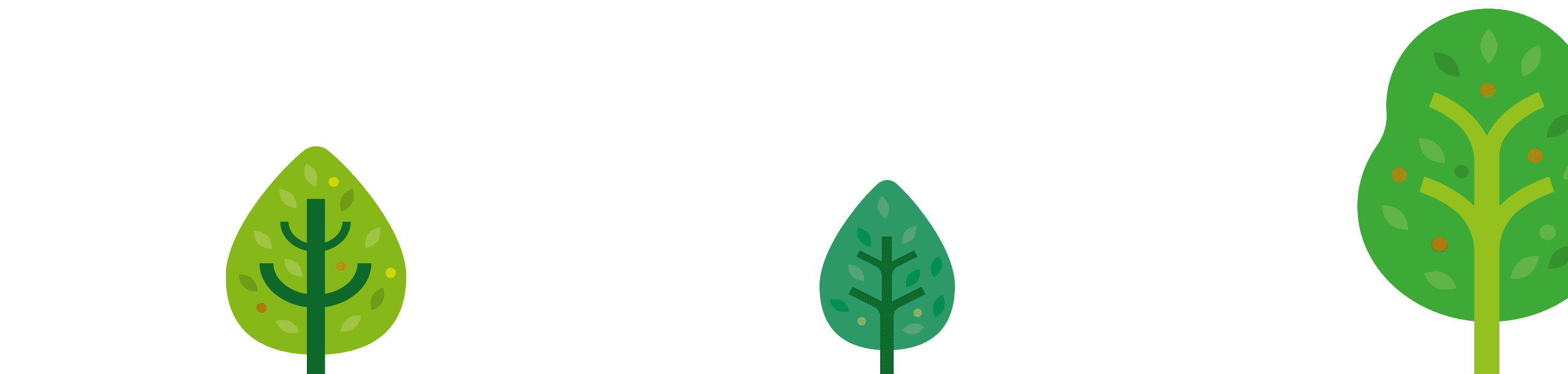 bottom header banner with trees
