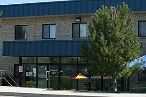 a photo of the main street west entrance DBH clinic